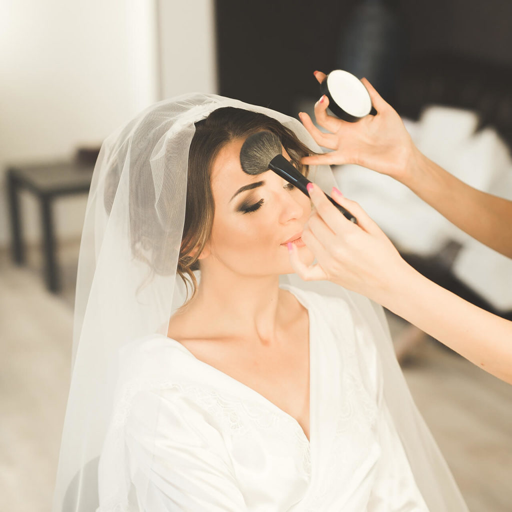 Our bridal makeup package helps you look your best on your wedding day.